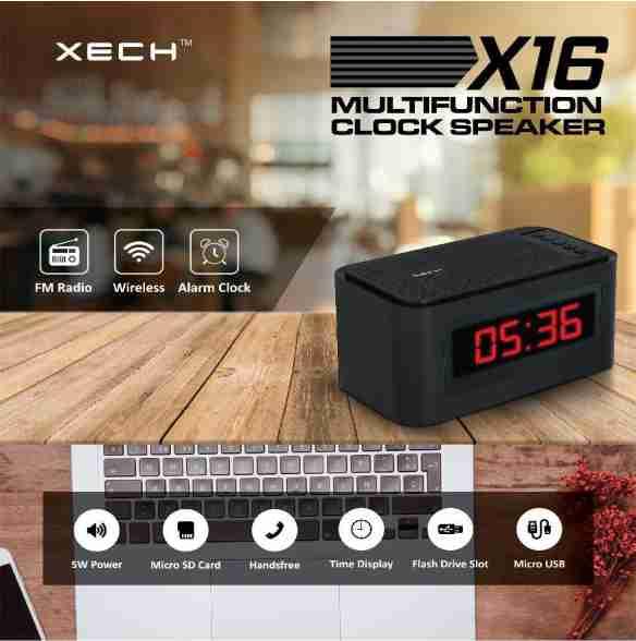 Xech, X16 Multifunction Clock With Speaker