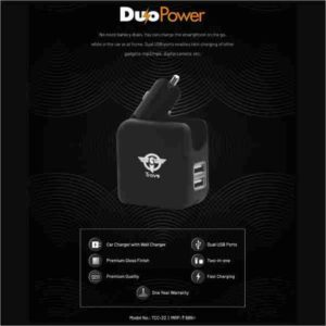 Trovo, Car Charger With Wall Charger