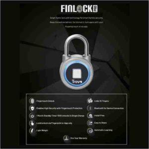 fingre print sensor lock, lock,finock, trovo