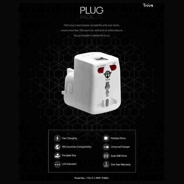 trovo, universal charger with dual usb ports